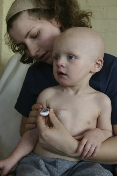 child with nurse