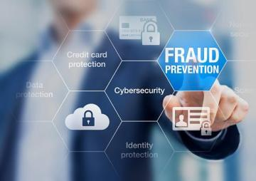 Image of man touching fraud prevention icon