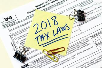 Tax Form With note about 2018 tax laws