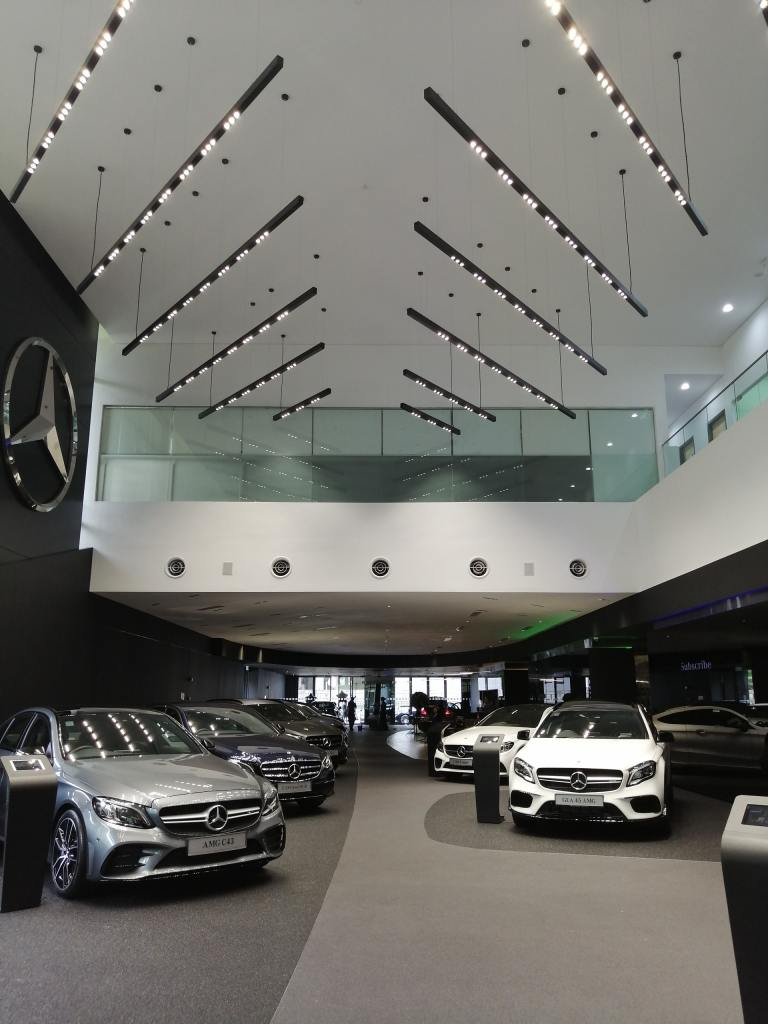 Mercedes Benz Car Show Room Floor.